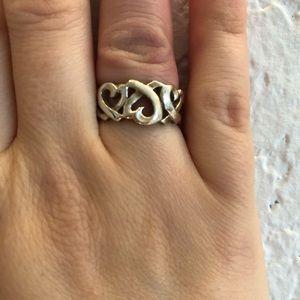 Tiffany silver heart ring